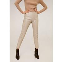 Mango LONDONPU Spodnie materiałowe nude M9121A1VA