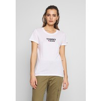 Tommy Jeans CORP HEART LOGO TEE T-shirt z nadrukiem classic white TOB21D06X