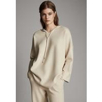 Massimo Dutti STRICK-CAPE MIT KAPUZE 05623807 Bluza beige M3I21J01H
