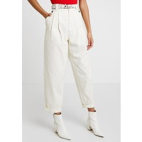 Topshop CAITLIN UTILITY Spodnie materiałowe ecru TP721A0LI