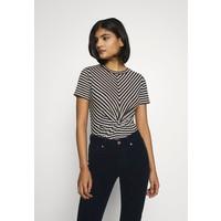 AllSaints JESS STRIPE TEE T-shirt z nadrukiem black/ecru A0Q21D064