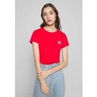 Calvin Klein Jeans SLIM 2 PACK T-shirt z nadrukiem fiery red/bright white C1821D09N