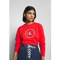 Calvin Klein Jeans ROUND LOGO RELAXED Bluza fiery red C1821J04Q