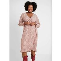 Cotton On Curve WILLOW WRAP MIDI DRESS Sukienka letnia brown C1V21C008
