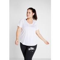 Nike Performance TOP GLAM PLUS T-shirt z nadrukiem white/metallic gold N1241D10E