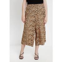 New Look Curves BRUSH STROKE ANIMAL CROP Spodnie materiałowe brown N3221A045