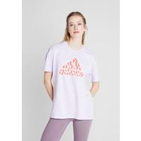adidas Performance TEE T-shirt z nadrukiem purple AD541D1AA