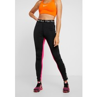 Fila LEGGINGS Legginsy black/beetroot purple/mandarin orange 1FI41E00Z