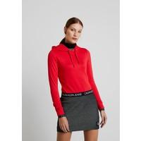 Calvin Klein Jeans LOGO MILANO HOODIE Bluza z kapturem racing red C1821J044