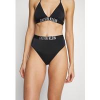 Calvin Klein Swimwear INTENSE POWER HIGH WAIST CHEEKY Dół od bikini black C1781I01T