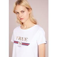 True Religion CREW NECK BOXY T-shirt z nadrukiem white TR121D05R