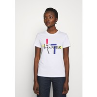 KARL LAGERFELD T-shirt z nadrukiem white K4821D03U