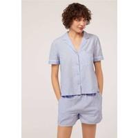 OYSHO Koszulka do spania blue OY181Q0FR