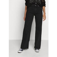 Monki YOKO Jeansy Straight Leg black dark MOQ21N01D