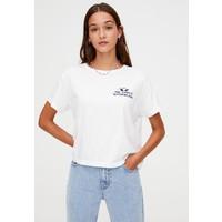 PULL&BEAR PLAYGROUND T-shirt z nadrukiem white PUC21D0ZL