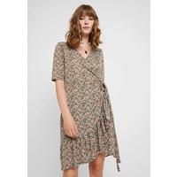 Vero Moda VMAMELIA WRAP DRESS Sukienka z dżerseju tortoise shell VE121C1V9