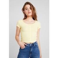 Pieces PCELENA T-shirt z nadrukiem mellow yellow PE321D0B4