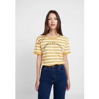 American Eagle LOGO SANTA MONICA RINGER TEE T-shirt z nadrukiem yellow AM421D00B