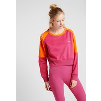 Fila CROPPED CREW Bluzka z długim rękawem beetroot purple/mandarin orange 1FI41D01M