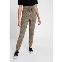 Hollister Co. PAPERBAG WAIST Spodnie materiałowe beige/black H0421A01P