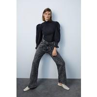Zara SPODNIE JEANSOWE ZW PREMIUM '80S ACID WASH Czarny 8246/052