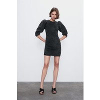 Zara SUKIENKA ZW PREMIUM '80S ACID BLACK Czarny 5216/041