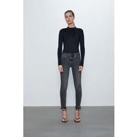 Zara SPODNIE JEANSOWE ZW PREMIUM '80S HIGH WAIST BLACK Czarny 6045/240