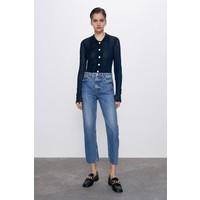 Zara SPODNIE JEANSOWE ZW PREMIUM ANKLE STRAIGHT TRUE BLUE Niebieski 8246/045