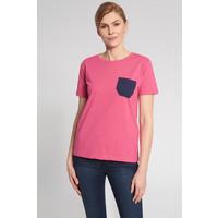 Quiosque Różowa bluzka z granatową kieszonką 1JS031531