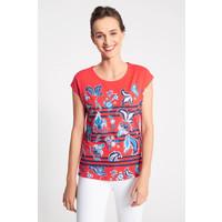 Quiosque Czerwona bluzka z niebiesko-turkusowym wzorem 1JS016553
