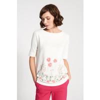 Quiosque Biała dłuższa bluzka w kwiaty 1FI014101
