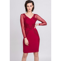 Monnari Elegancka sukienka z pięknym zdobieniem 19Z-DRE1910-K005
