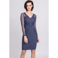 Monnari Elegancka sukienka z pięknym zdobieniem 19Z-DRE1910-K019
