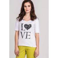 Monnari T-shirt z romantycznym printem 20W-TSH0010-K000