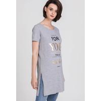 Monnari Dłuższy t-shirt damski 20W-TSH0330-KM19