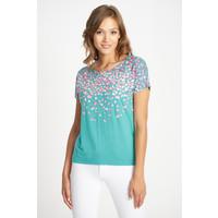 Quiosque Niebieska bluzka z różowym wzorem 1IE004911