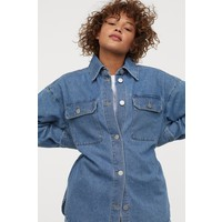 H&M Kurtka koszulowa z denimu 0860249001 Niebieski denim