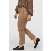 H&M H&M+ Spodnie bez zapięcia 0797892003 Beżowy melanż