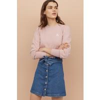 H&M Dżinsowa spódnica paper bag 0849117001 Niebieski denim