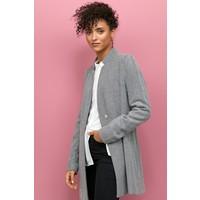 H&M Krótki płaszcz 0832985001 Czarny/Jodełka