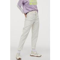 H&M Dżinsy Mom 0572998003 Naturalna biel