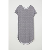 H&M Sukienka typu T-shirt 0401044005 Biały/Czarna krata