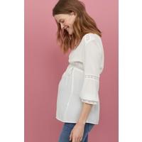 H&M MAMA Bluzka z koronką 0848999002 Biały