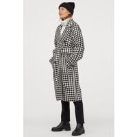 H&M Płaszcz w pepitkę 0831545001 Czarny/Pepitka