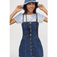 H&M Dopasowana sukienka 0784432001 Niebieski denim
