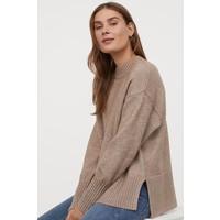 H&M Sweter 0852523003 Beżowy melanż