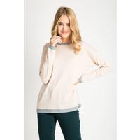 Quiosque Jasnoróżowy sweter z szarymi wstawkami 6GL002500