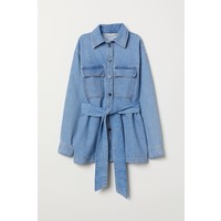 H&M Koszula dżinsowa z paskiem 0701247001 Niebieski denim