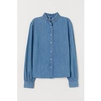 H&M Bluzka dżinsowa 0788720001 Niebieski denim