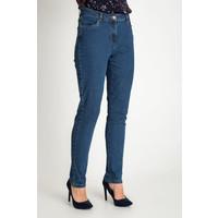 Quiosque Niebieskie spodnie jeansy z regularnym stanem 3GP001801
